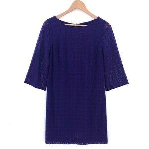 NINE WEST Lace Pullover Dress 3/4 Sleeve NWOT